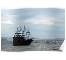 Yo Ho Ho! It's a pirate ship matee! Poster