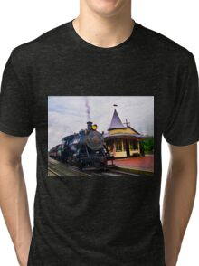 Locomotive Steam Engine Tri-blend T-Shirt