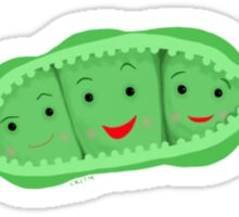 3 peas in a pod Sticker