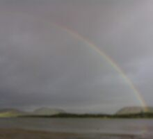 Rainbow over Beach by trebor27