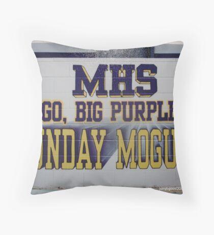 MUNDAY FOOTBALL FIELD MURAL Throw Pillow