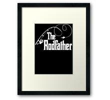The Rodfather Fishing Parody T Shirt Framed Print
