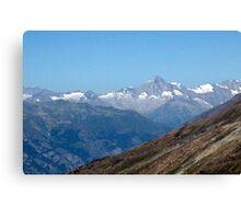 View from top of Gornergrat  Zermatt Switzerland Canvas Print