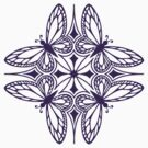 butterfly mandala - one flutter! by Sarah Jane Bingham