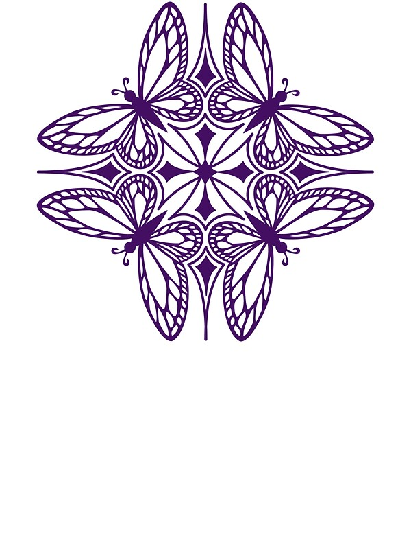 """butterfly mandala - one flutter!"" Stickers by Sarah Jane ..."