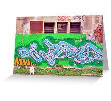 Colorful graffiti Greeting Card
