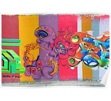 Colorful graffiti Poster