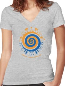 Fragile - handle with care! Women's Fitted V-Neck T-Shirt
