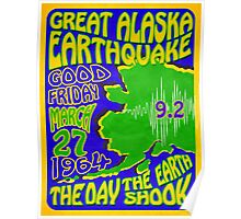 Alaska Earthquake 1964  Retro Poster ~ T-shirts, Cups, Mugs, Scarves, Leggings etc.    Poster