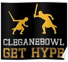 CLEGANEBOWL GET HYPE Poster