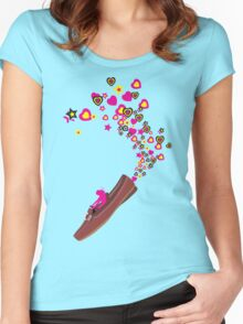 FUN WITH SHOE Women's Fitted Scoop T-Shirt