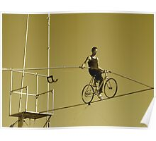 Tightrope Cyclist Poster