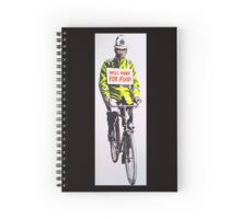 Will work for food! Spiral Notebook