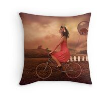 Traveling To Fairy Land Throw Pillow