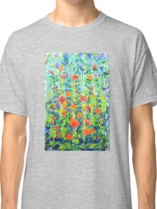 Flowers - original abstract painting Classic T-Shirt