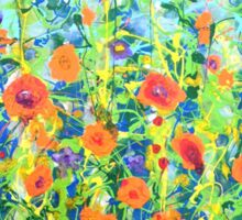 Flowers - original abstract painting Sticker
