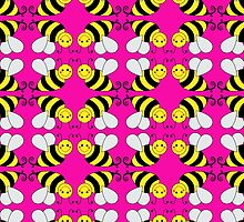 Bumble Bee Pattern  by ironydesigns