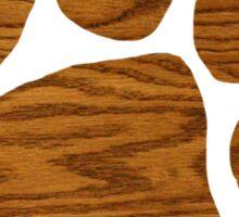 Wood Grain Paw Print Sticker