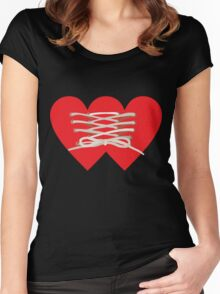 TIED LOVE Women's Fitted Scoop T-Shirt