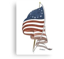 United States 1776 flag Canvas Print