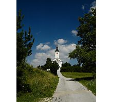 Church on a Hill Photographic Print