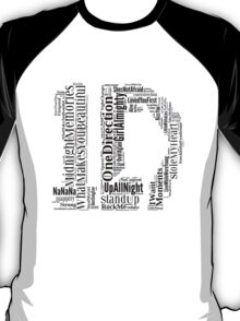 1D WordCloud T-Shirt