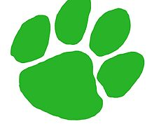 Green Paw Print by TheTomlinsons