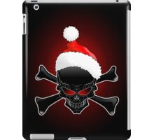 Christmas Santa Black Skull iPad Case/Skin