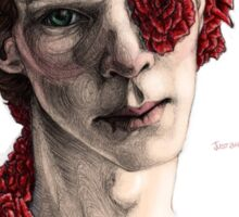 """Organic"" - sherlock portrait, full colour version Sticker"