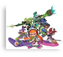 Splatoon - Unite team! Canvas Print