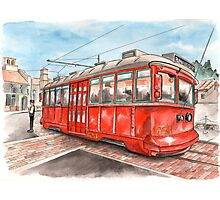 Red Car Trolley Photographic Print