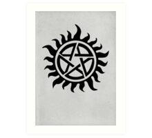 Supernatural Demon Possession Protection [BLACK] Art Print