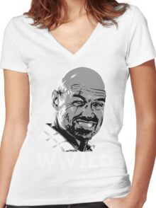 What Would John Locke Do - LOST Women's Fitted V-Neck T-Shirt
