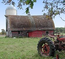 Old Tractor and Barn by livinginoz