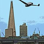 Flying past the Shard in 2020 by Tim Constable