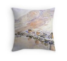 Fishermans huts  Throw Pillow
