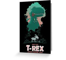 Visit our T-Rex! Greeting Card