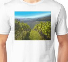 View of Hunter Valley vineyards, NSW, Australia Unisex T-Shirt