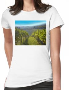 View of Hunter Valley vineyards, NSW, Australia Womens Fitted T-Shirt