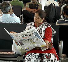 WAITING FOR HER FLIGHT by RakeshSyal