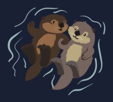 Cute: Sea Otters Baby Tee