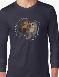 Cute: Sea Otters Long Sleeve T-Shirt