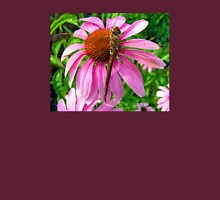 Dragonfly & Echinacea Womens Fitted T-Shirt