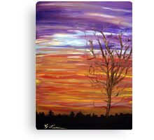 Colorful Streaks of Sunset Clouds Canvas Print