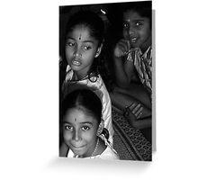 Hindu Children  Greeting Card
