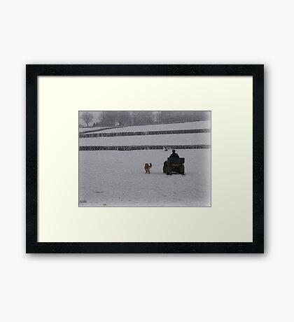 Going home for Christmas Framed Print