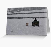 Going home for Christmas Greeting Card