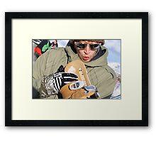 Nice Ride, Snowboarder in Austria Framed Print