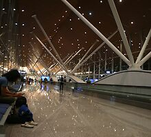 Through my bleary eyes......waiting for the next plane by MrJoop