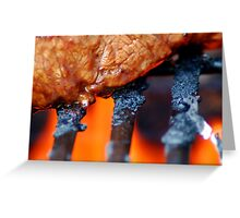 Mouth-Watering Steak Greeting Card
